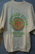 Vtg Women's Beverly Hills 80s Puffy Print 3/4 Top Sweatshirt Rare Jeweled Small