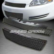MESH FRONT UPPER+LOWER HOOD BUMPER ABS GRILL/GRILLE/FRAME KIT 06-16 CHEVY IMPALA
