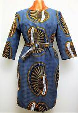 HANDMADE DRESS - Ankara African Print Dress With Matching D-Ring Belt
