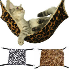 Pet Cat Hammock Leopard Fur Bed Animal Hanging Dog Ferret Cage Comforter