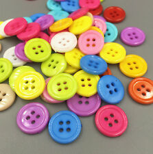 20pcs 4 Holes Round Resin Buttons Sewing Mixed color Scrapbooking 20mm/0.8 in