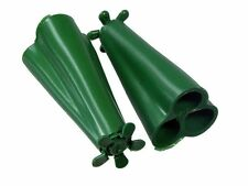 NEW GREEN Wigwam Plastic Holds 3 Garden Canes Safety Protector Grip Holder (PK 1