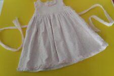 Baby Girl Luli & Me Pretty Pink Textured Ruffle Dress 9Mos Tiebacks Summer Lined