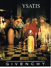 PUBLICITE ADVERTISING 064  1989   Le parfum YSATIS  de  GIVENCHY
