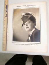 Studio Styles hat Warner Bros movie photo store display 1940s Eleanor Parker