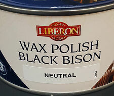 Liberon Negro bisonte cera Pasta Polaco neutral 500ml