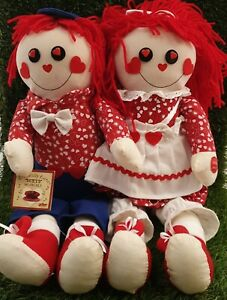 """Chantilly lane duets Singing  Rag Dolls Joined 18"""" Fantastic Condition like new"""