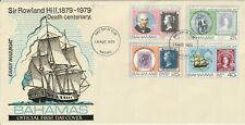 BAHAMAS 14 AUGUST 1979 ROWLAND HILL CENTENARY ALL 4 STAMPS ON FIRST DAY COVER