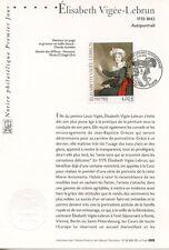 FDC / PREMIER JOUR / ART / TABLEAU / ELISABETH VIGEE LEBRUN PARIS 2002
