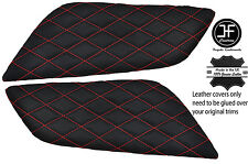Red Diamond Stitch 2X console Ginocchio Pad in pelle copre si adatta a FORD MUSTANG 15-17