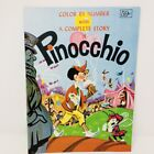 Vintage Color By Number with Complete Story of Pinocchio Coloring Book