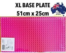 "XL BASE PLATE FOR DUPLO MEGA BLOK BIG BLOCKS 51x25cm 20x10"" PINK GIRL GIFT"