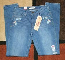 ✿ LEVI'S Floral Embroidery Jeans Mid Rise Skinny 10 Medium W 30 L 32 NWT! L@@K!