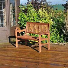 Kingfisher 2-Seater Hardwood Garden Patio Bench