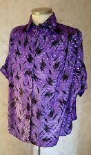 Long Bluse ,Damen Bluse , Gr. 56 ,lila Glitzerstoff