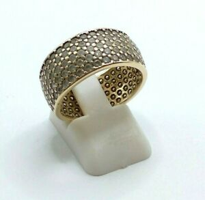 14CT GOLD RING GOLD 585 CUBIC ZIRCONIA  FULL ETERNITY RING SIZE R