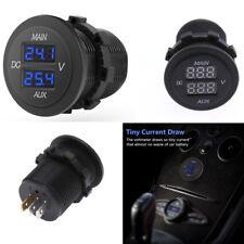 Universal 10-60V Rund LED Voltmeter 2 Digitalanzeige Spannungsmessgerät Voltage