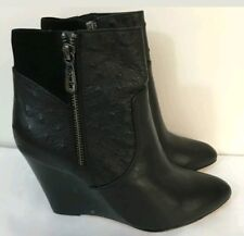 💕💕💕 MIMCO LEATHER ALMA WEDGES BOOTS SHOES HEELS RRP$229 Size 39 or 8 💟💟💟