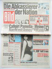 Bild Zeitung vom 5.4.1989, Pamella Bordes, Laura Fuiono, Dor Pesch, Sophia Loren