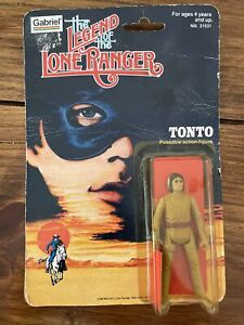 """""""The Legend of the Lone Ranger"""" Gabriel 1980 TONTO figure on card MOC"""