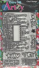 Dare 2B Artzy Twinkle Little Stars Clear Cling Rubber Stamps