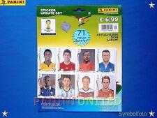 Panini★WM 2014 WC 14 World Cup★Update-Set - 71 Sticker nachnominierter Spieler