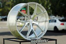 20x10.5 Inch +25 Enza Vatore BLX-01 5x120 Silver Wheels Rims BMW E90 E92 F82 M3