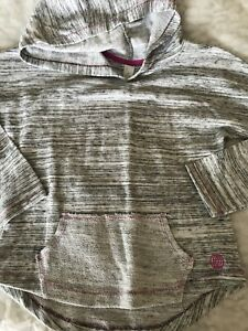 Girls Size 10/12 Grey Yoga Hoodie By Balance #727