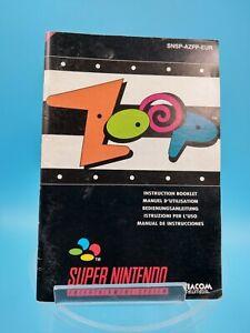 Video Game Manual Be super nintendo Eur Zoop