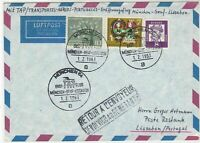 Germany 1963 Airmail Munchen First Flight Cancel Return Stamps Cover ref 22730
