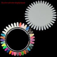 36Colors Round Nail Polish Gel Color Palette Chart Display Art Tip Fake Palet DS