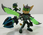 Ratchet and Clank Future Action Figure,Armored Ratchet with Mr. Zurkon RARE HTF