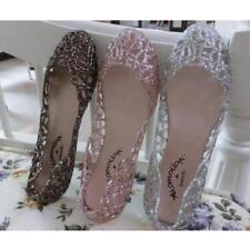 a9cec5cf6a1d55 Fast P P Womens Jelly Crystal Hollow Out Flat Heel Beach Sandals Ventilate  Shoes