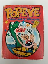 VINTAGE WHITMAN BIG LITTLE BOOK POPEYE GHOST SHIP TO TREASURE ISLAND 1967