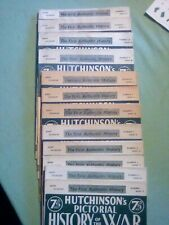 Hutchinson's Pictorial History Of The War  Complete Series 13 (12 volumes)