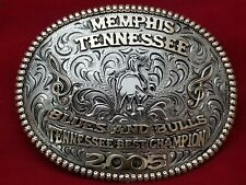 2005 RODEO TROPHY BUCKLE~MEMPHIS TENNESSEE BULL RIDING CHAMPION VINTAGE 782