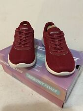 Ladies Sketchers Memory Foam Air Cooled Trainers Red Size UK 4 New With Box