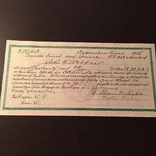 1908 Iowa Interest Payable Coupon on Mortgage Principal Note