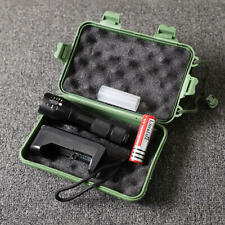 Portable waterproof outdoor lighting T6 glare flashlight, gift box set