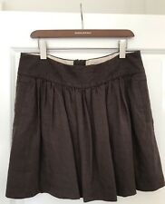 Banana Republic Heritage Collection A-line Dark Chocolate Brown Skirt Size 16 UK