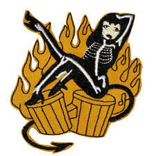 Patch Pin Up Lolita Kawaï Flaming Rockabilly Rock'n'Roll Psychobilly Punk Ska
