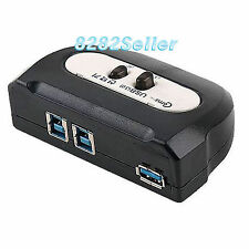 2 Port ( USB 3.0 Manual Sharing Switch BOX ) 2:1 1A 2B SELECTOR Printer Scanner