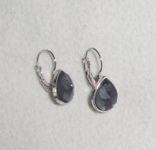Ohrhänger Ohrringe  aus silberfarbendem Metall mit grauen Straßsteinen ** NEU **