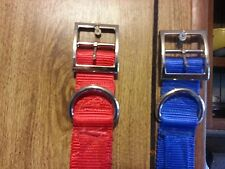 Dog Collars 1.5 Webbing 3 Ply Heavy Duty Hunting Dogs!!