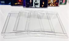 5 Clear Protectors For SINGLE DISC CD's     Music Soundtracks Albums Cases Box