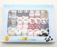 12pair Newborn Infant Baby Girl Boy Cotton Cartoon Children Anti-Slip Cute Socks