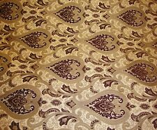 """Chenille upholstery Monte Cristo Wine Damask Fabric with Gold 56"""" Wide 25 yards"""