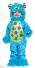LIl' TODDLER BLUE MONSTER HALLOWEEN FANCY DRESS UP COSTUME OUTFIT AGE 1 2 YEARS