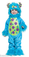 Halloween tout-petit bleu à Fourrure monster costume déguisement 1 an 2 ans