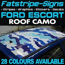 FORD ESCORT ROOF CAMO GRAPHICS STICKERS STRIPES DECALS CAMOUFLAGE RS TURBO COS